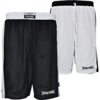 05014- BLACK-WHITE/ESSENTIAL REVERSIBLE SHORTS /SPALDING