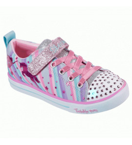 20275L GYMT/TWINKLE TOES-SPARKLE LITE-MAGICAL RAINBOWS/SKECHERS