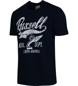 A7-046-1/190 NA  CREW NECK TEE PRINT / RUSSELL